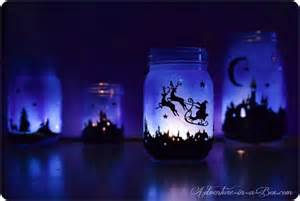 How To Make Tissue Paper Decorations Magical Christmas Lanterns Town Silhouette Printable