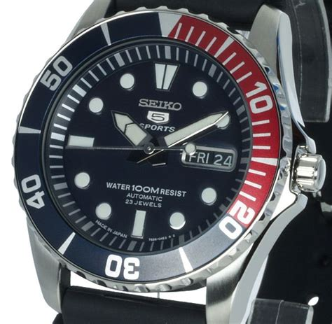 Seiko 5 Rubber seiko 5 sports automatic black rubber edelbg de