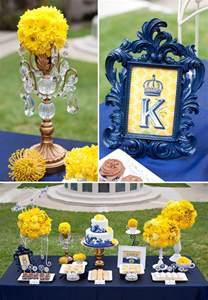 Blue And Yellow Decor Royal Wedding Bridal Shower Yellow And Blue Wedding