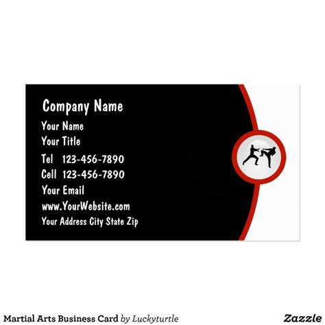 Martial Arts Business Card Templates by Martial Arts Business Card Zazzle