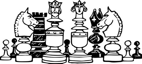 chess clipart chess clipart black and white pencil and in color chess