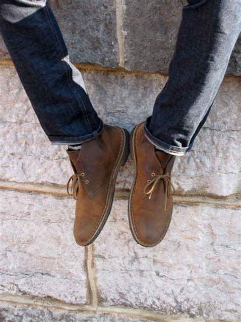 fancy beeswax leather desert boot by clarks