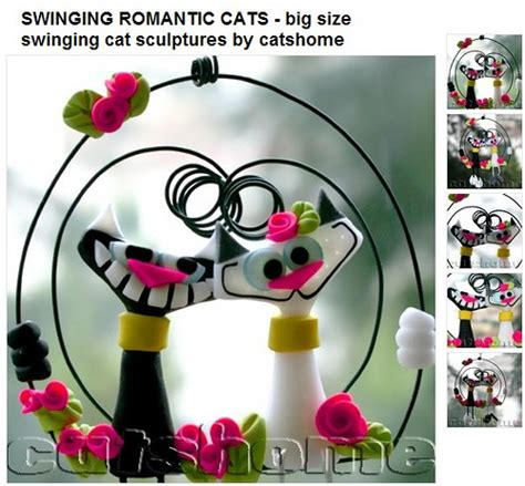 swinging cats swinging romantic cats big size swinging cat sculptures