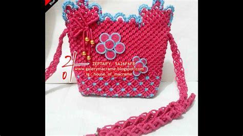 Tas Bentuk Bunga tutorial tas tali kur membuat hiasan bunga tas tali kur by