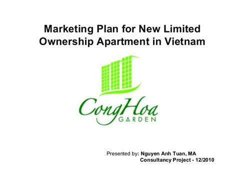 Apartment Ownership Marketing Plan For New Limited Ownership Apartment In