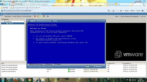 setup xp virtual host sql install xp virtual machine