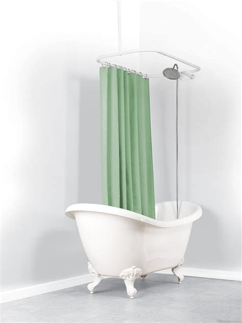 clawfoot bathtub shower curtain rod round shower curtain rod for clawfoot tub curtain
