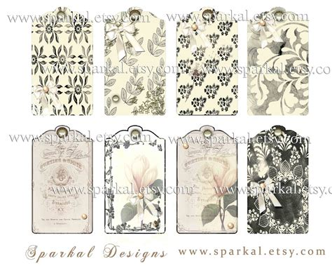 printable vintage tags template 6 best images of free printable blank hang tags free