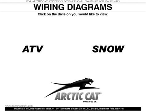 arctic cat atv snowmobile wiring diagrams