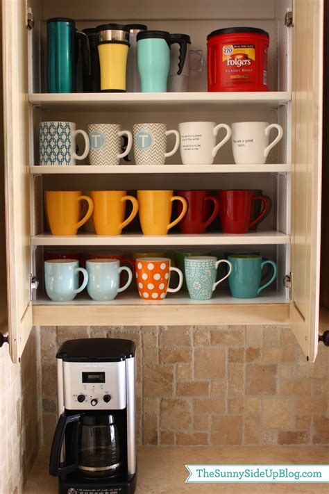 how to organize mugs in cabinet organized laundry room the side up