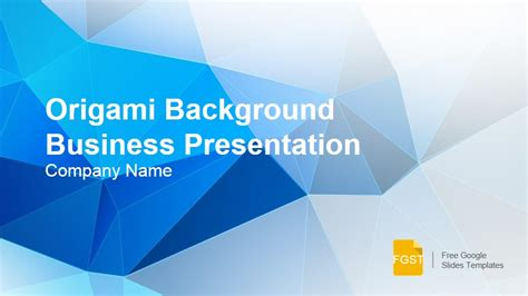 Origami Background Presentation Template Free Google Slides Templates Free Slide Templates