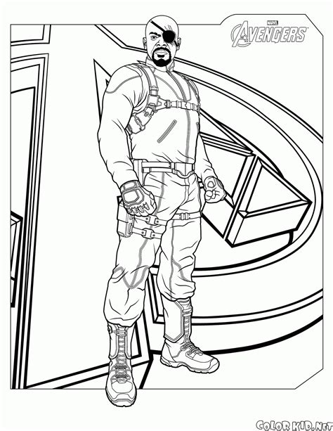 avengers christmas coloring pages coloring page nick fury