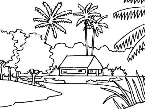 sketchbook untuk gambar 15 gambar mewarnai pemandangan alam terbaru