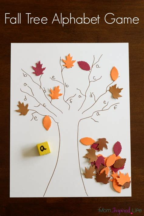 free tree letter matching a to m great winter and fall tree roll and cover alphabet game