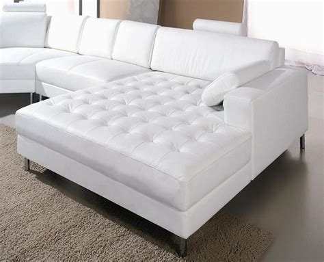 White Leather Sectional by Monaco White Leather Sectional Sofa 2236 Black Design Co