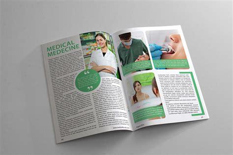 medical design magazine health and medical magazine template on behance