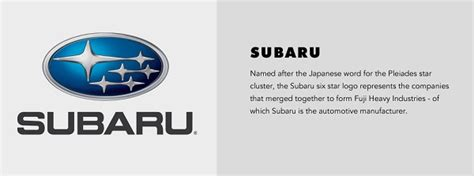 subaru meaning in japanese the history the logos of car brands