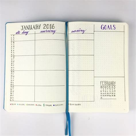 M Calendar Setup 20 Best Images About Bujo Yearly Monthly Setup On