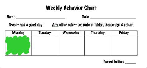 monthly behavior chart template new calendar template site