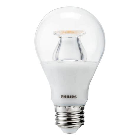 Philips A19 Led Light Bulb Philips 60w Equivalent Soft White Clear A19 Led Warm Glow