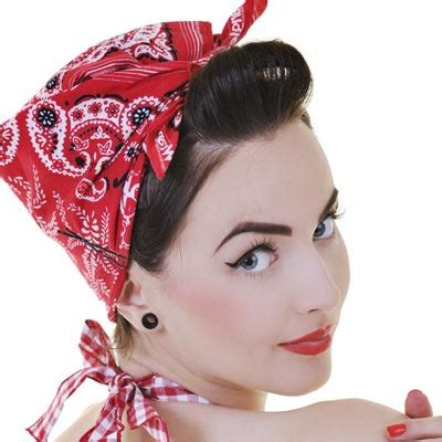 How To Do Rockabilly Hairstyles With Bandana | rockabilly bandana hairstyles