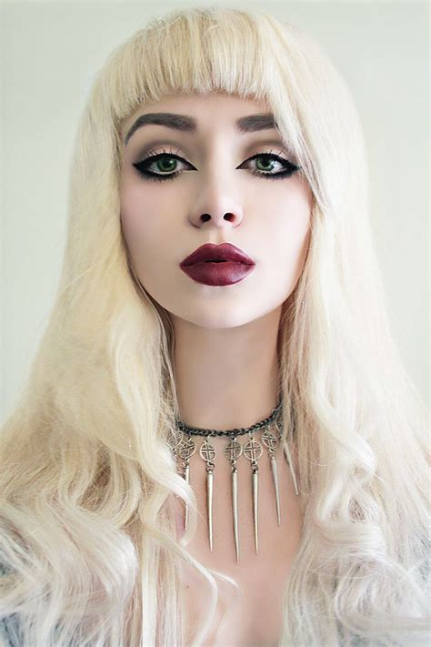 hair and makeup tumblr nu goth defined eyes with deep red lips beauty and shit