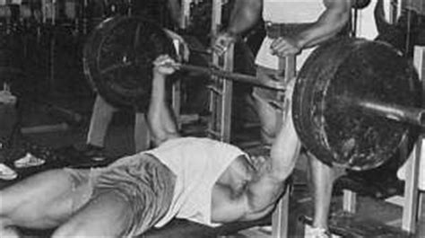arnie bench press a piece of history original gold s gym bench from 1006