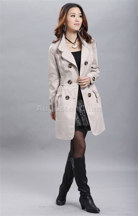 Trench Jacket Black Korean Style new womens breasted trench coat jacket korean style