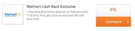 Can I Get Cashback From A Walmart Gift Card - 5 cash back at walmart or 10 with discover card million mile secrets