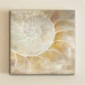 Seashell Sconces Sea Shell Canvas Art By One Design Tropical Artwork