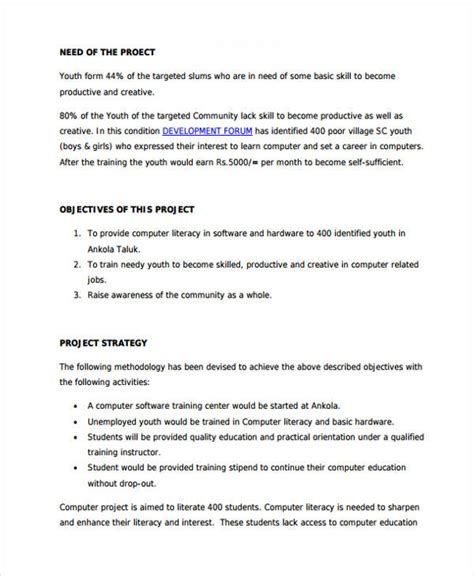 7 Training Project Proposal Templates Pdf Free Premium Templates Computer Refresh Project Template
