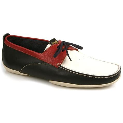 michael toschi vela boat shoes white blue