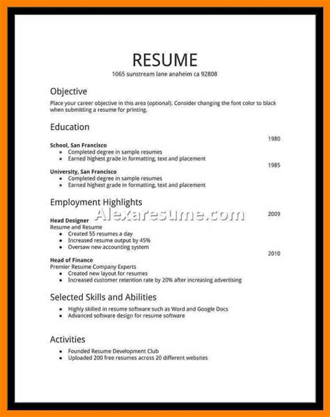 resume for high school student resume for high school student skills