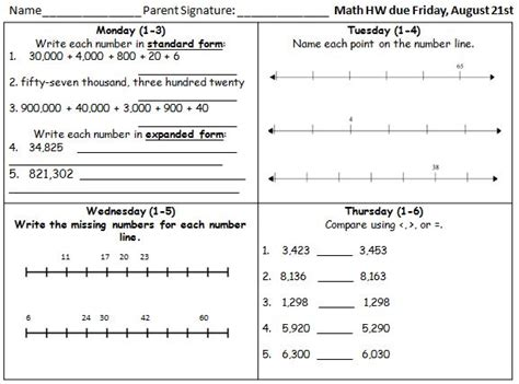 Sats Revision Homework Sheets by Homework Mrs S 3rd Grade Weebly Page