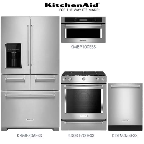 kitchenaid kitchen appliance packages discount package kitchenaid 4 piece premium stainless