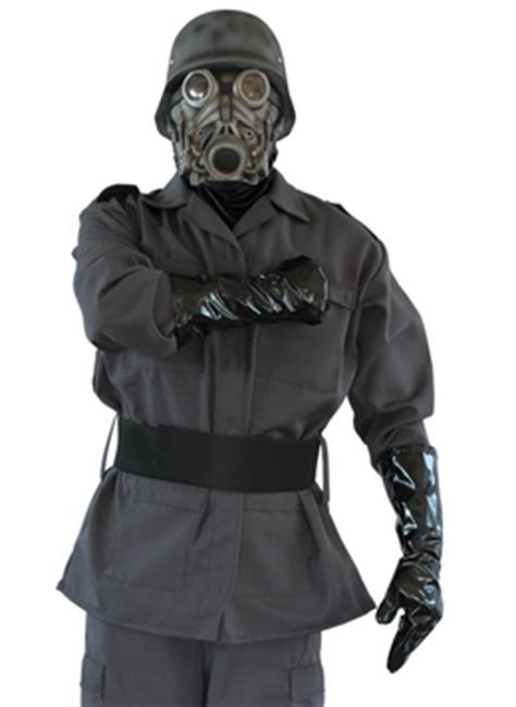 White Gas Mask Ultraviolet Costume by Gas Mask Costumes And Gas