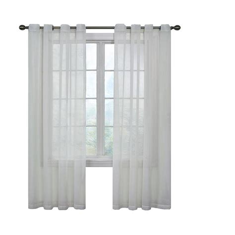 Polyester Sheer Curtains Shop Arm Hammer Arm And Hammer 120 In White Polyester Grommet Sheer Single Curtain Panel At
