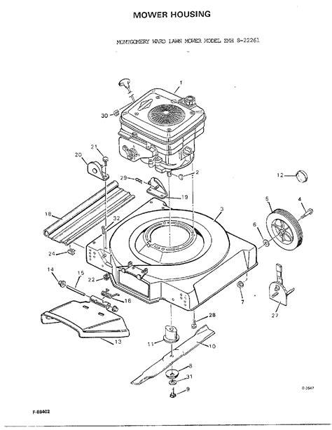 murray lawn mower parts diagram murray lawn mower parts model 822261 sears partsdirect