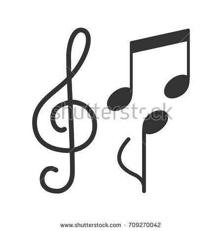 music note head silhouette music notes border stock vector 692675395 shutterstock