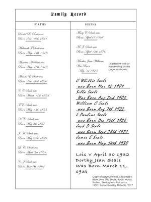 silla family tree l c seale 1861 1863 wikitree free family tree