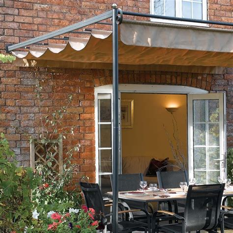 Awning Canopy For Patio 10 10 Quot X 9 11 Quot Ft 3 3 X 3m Retractable Metal Garden