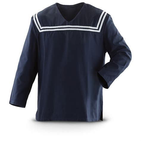 Set L Navy Shirt new croatian navy sailor s middy shirt blue white 230141 shirts at sportsman s guide