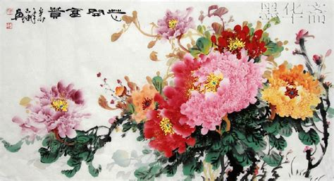 chinese watercolor peony www imgkid com the image kid