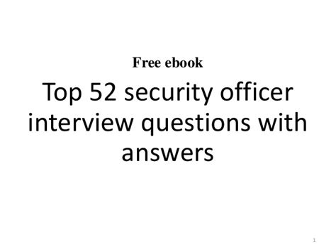 top 10 security officer questions and answers