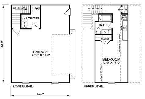 Single Car Garage Plans Garage Plan 45512 At Familyhomeplans Com
