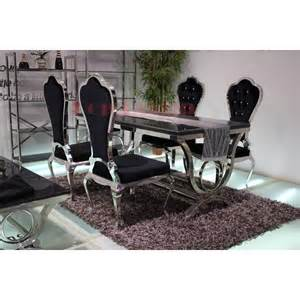 table de salle 224 manger baroque en inox vienna pop design fr