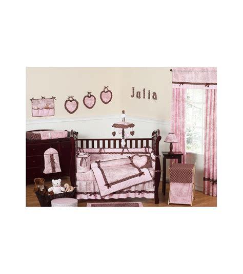 sweet jojo designs crib bedding set sweet jojo designs pink brown toile 9 crib bedding set