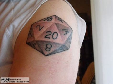 d20 tattoo reader up 10 geeky tattoos