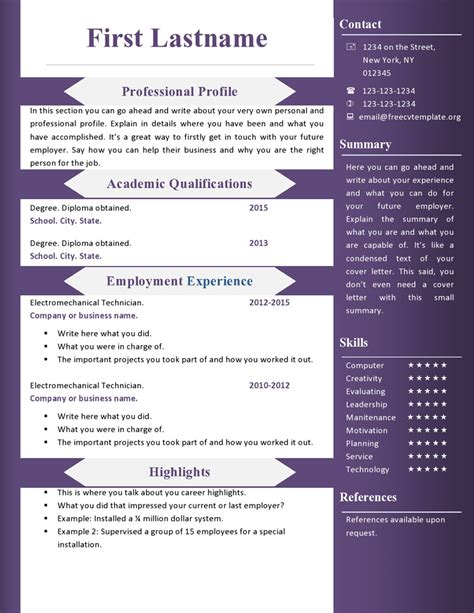 free resume template downloads for microsoft word free cv resume templates 360 to 366 free cv template