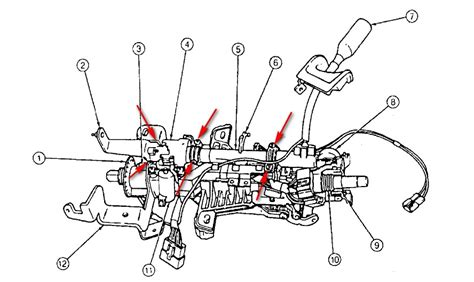 1995 Ford Windstar Dash Removal Diagram Column Shiffter